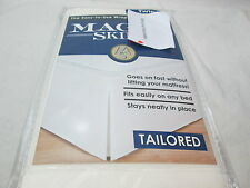 New Levinsohn Textile Magic Skirt ~ Ivory Twin Tailored Wrap Around Bedskirt NIP