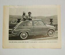 Pubblicità vintage 1956 FIAT 600 AUTO old advertising reklame werbung publicitè