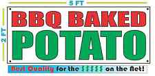 BBQ BAKED POTATO Banner R&G NEW Larger Size Best Quality for The $$$ Fair Food
