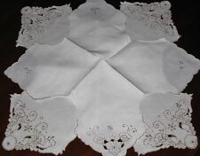 Pair Charming MADEIRA LINEN EMBROIDERED BUN/HOT ROLL COVERS For Entertaining