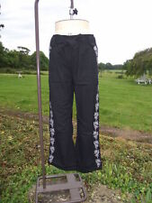 Fab CASUAL COMFORT Embellished Black Cotton Cargo Pants Trousers Size 18 BNWT