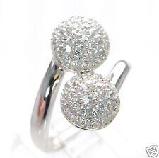 Joseph Esposito Diamonique Solid 925 Sterling Silver Pave Bead Wrap Ring Sz-10 '