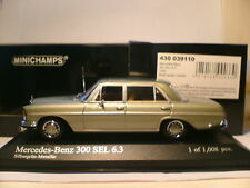 Wow extrêmement rare minichamps 1/43 1968 mercedes-benz 300SEL (W109) superbnla!!!