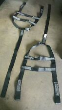 set of 2 U-HAUL tow dolly Basket Straps Tire strap Wheel Net LOOP END Black USA