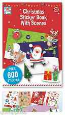 600 Christmas Stickers With Scenes Book Childrens Activity Stocking Filler XSTC