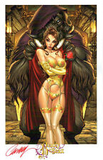 J SCOTT CAMPBELL - FAIRY TALES FANTASIES BEAUTY & THE BEAST ART PRINT SDCC 2014
