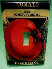 Card Seed Co Tomato Chalk Pomedoro Grosso Fredonia NY paper wrapped switch cover