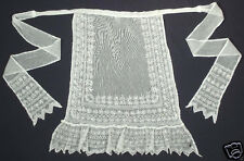 VINTAGE Czech/Slovak embroidered cotton tulle apron ethnic folk costume Bohemia