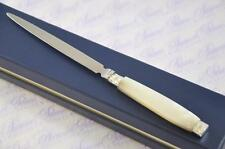 CAP AND  FERRULED MOTHER OF PEARL FLUTED HANDLED LETTER OPENER 1911