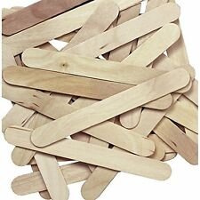 1 X Natural Jumbo Wood Craft Sticks - 100 pcs