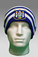 Adidas Unisex RSC ANDERLECHT Football Beanie Hat Adults Purple White AUTHENTIC