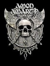AMON AMARTH cd lgo AXES GREY SKULL Official SHIRT XL New