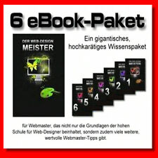 Der Web-Design Meister - Ein wahres Mammut-Werk, bestehend aus 6 Top-Ebooks -MRR