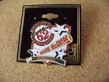 1998 Mark McGwire Record Breaking 62 Home Runs lapel pin MLB