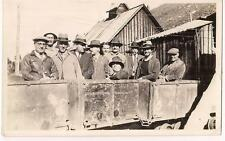 Enterprise Mine TAYLOR PARK COLORADO Men In Mining Cars M & P Co 1931 Photo