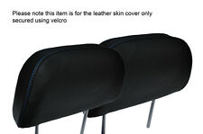 BLUE STITCH 2X FRONT HEADREST LEATHER SKIN COVERS FITS HONDA PRELUDE 1986-1991