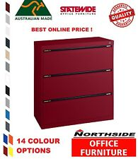 3 Drawer Lateral Filing Cabinets - Statewide - Australian Made - 100% feedbk