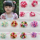 Fashion Baby Ribbon Hair Clip Hairwear Girls Side Clip Rubber Band Hair Ring