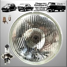 "Classic 7"" Sealed Beam Headlight Conversion H4 Halogen Headlamp With Bulbs 7014"