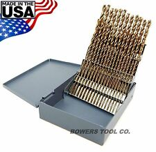 Norseman 60pc COBALT M42 NUMBER Wire Gauge Drill Bit Set w Index #1-60 USA D-60