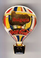 RARE PINS PIN'S .. MC DONALD'S RESTAURANT BALLON HOT AIR BALLOON BULGARIE ~15