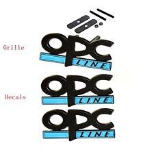 Opel OPC Line Grille + Decal Emblem Badge Corsa Tigra Vectra Schriftzug Matte KW