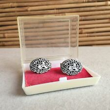 RARE Vintage 'HOLDEN' Car ORIGINAL Men's SILVER Tone CUFFLINKS by LEGA Melbourne