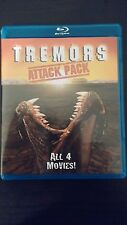 Tremors Attack Pack Films 1+2+3+4 Complete Collection Blu-ray Kevin Bacon Boxset