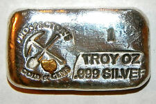 Prospector Silver Hand Poured Bar with Gold Nuggets From Porcupine Creek Alaska