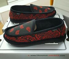 BANDANA HOUSE SHOES TROOPER  BLACK/RED  MEN'S US SZ 13