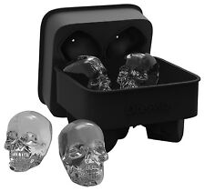Silicone Ice Cube Mold Tray 4 Large Round 3D Shape Skull Cubes Whiskey Drinks