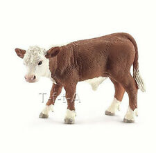 FREE SHIPPING | Schleich 13765 Hereford Calf Model Toy New 2014 - New in Package