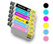 6 Ink Cartridges For Epson R200 RX600 R300 RX500 R320 RX620 RX300 Printer T0487