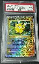 *Mint* Pokemon PSA 9 Reverse Holo Pikachu from Legendary Collection