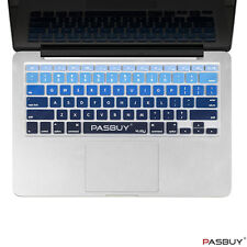 "Ombre Color Keyboard Cover for Apple Mac Book Air Pro Retina Mac 13 15 17"" Blue"