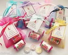 Personalised Hen Party/Hen Night Favours - Love Heart Sweet Bags