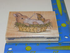 Stampabilities Rubber Stamp House Mouse Bunny Boo Boo Sick Amanda Get Well Nurse