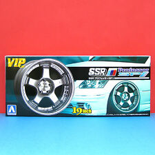 Aoshima 1/24 19 inch SSR [Professor SP1] wheel & tire model kit #009185