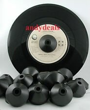 Universal 45 rpm center spindle record adapter black