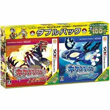 3DS POKEMON Alpha Sapphire Omega Ruby Limited Double Pack w/ bonus FIGURE JAPAN