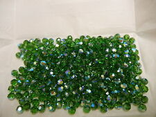 36 swarovski crystal beads,6mm fern green AB #5000