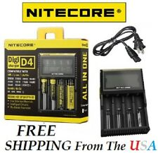 NTECORE All in One Digi D4 Charger Li-ion, Ni-MH, Ni-Cd 26650 18650 18350 *New!