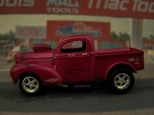 DRAG RACING 1941 WILLYS GASSER PICKUP TRUCK MODEL COLLECTIBLE - 1/64 DIORAMA