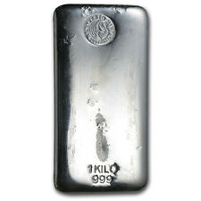 1 kilo Perth Mint Silver Bar - Cast Silver Bar - SKU #57625