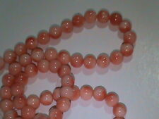 FINE Vintage Natural Angel Skin PINK Coral Beads 5mm Strand 84 Beads NICE (57