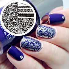 Nagel Schablone Nail Art Stamp Stamping Template Plates BORN PRETTY 02