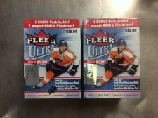 2 BOXES LOT OF 2014/15 FLEER ULTRA HOCKEY BOX FACT SEALD RETAIL