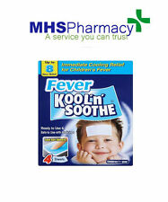 3 x 4 sheets Kool 'n' Soothe Soft Gel Children Kids Fever Immediate Relief