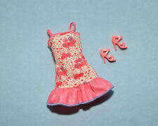 SASSY! Pink White Short Sleeveless Party Dress Clothes BARBIE w/ Shoes- NEW!