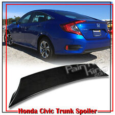 Carbon Honda Civic 10th Sedan EX LX Rear V Style Trunk Boot Spoiler Wing 2016